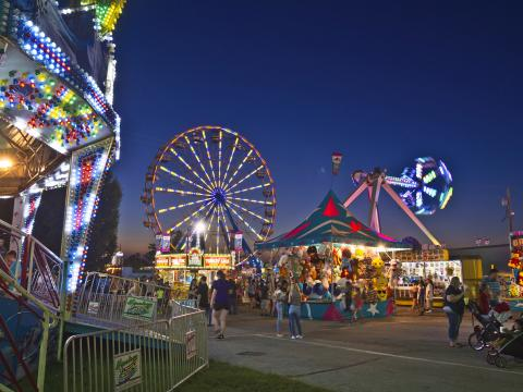 Midway amusements at the Ozark Empire Fair