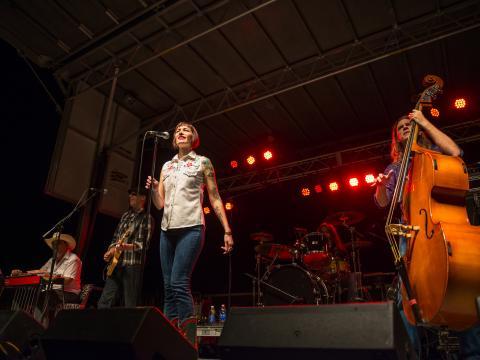 Sur scène pour le festival de musique gratuit Best of the Bayou