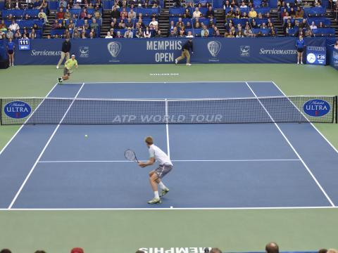 Spannende Partie bei den Memphis Open