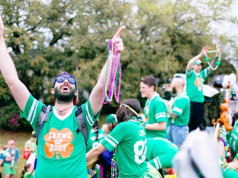 Grün und glücklich – auf der Wearin' of the Green Parade
