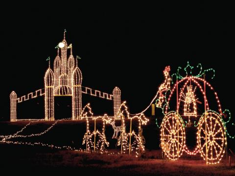 One of the displays during Galaxy of Lights in the Huntsville Botanical Garden
