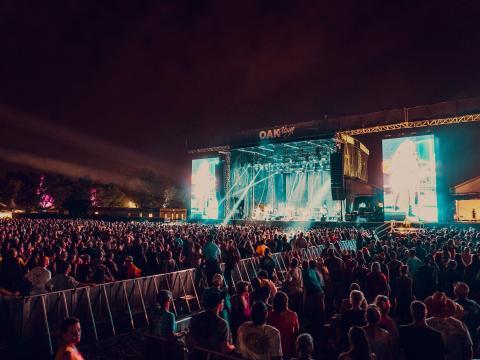 ケンタッキー州ルイビルのバーボン&ビヨンド・ミュージック・フェスティバルでのライブ演奏