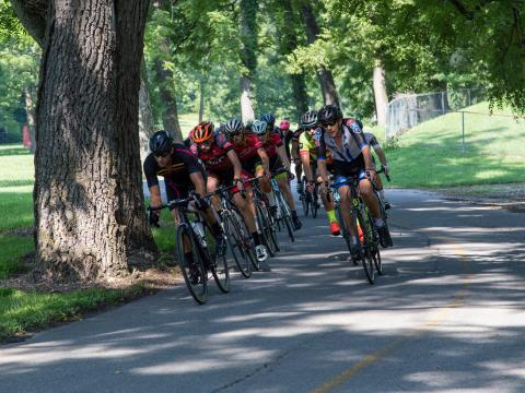 Racing during the Rogers Cycling Festival in Arkansas